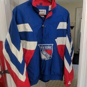 Starter New York Rangers Half Zip XL Windbreaker